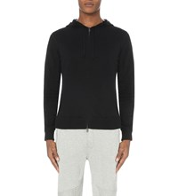 Ralph Lauren Waffle Slim Fit Cotton Jersey Hoody Polo Black