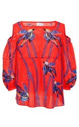 Tanya Taylor Bird Embroidered Elien Top