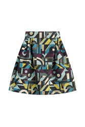 Olympia Le Tan Printed Skirt Multicolor