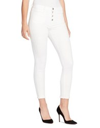 William Rast High Rise Cropped Jeans White