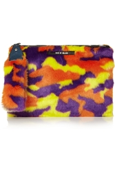House Of Holland Hand Cuff Faux Fur Clutch