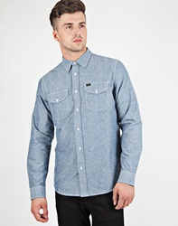 Lee Worker Shirt In Twill Check