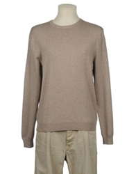 Brooks Brothers Crewneck Sweaters Light Brown