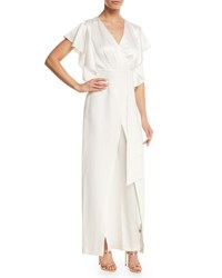 Jax Ruffled Shoulder Jumpsuit Ivory