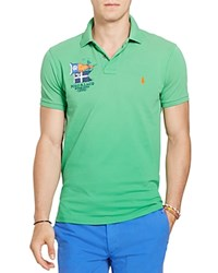 Polo Ralph Lauren Nautical Cotton Mesh Slim Fit Shirt Victory Green