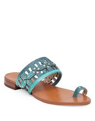 Vince Camuto Helice Leather Toe Ring Sandals Blue