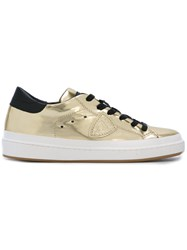 Philippe Model Lakers Sneakers Women Leather Patent Leather Rubber 37 Metallic