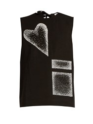 J.W.Anderson Cotton And Linen Blend Top Black