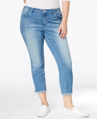 Jessica Simpson Trendy Plus Size Curzon Wash Cropped Jeans