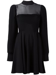Philipp Plein Pleated Dress Black