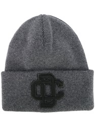 Dsquared2 Embroidered Logo Ski Knit Hat Grey