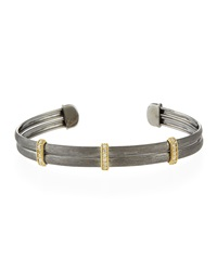 Jude Frances Sterling Silver And 18K Yellow Gold Bangle