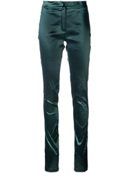 Ann Demeulemeester Slim Fit Trousers Green