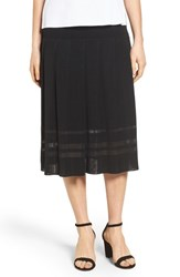 Ming Wang Women's Pleated Midi Skirt