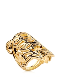 Kenzo Oversized Tiger Ring Black Gold