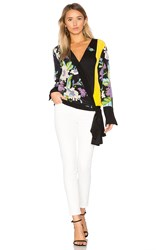 Diane Von Furstenberg Cross Over Blouse Black