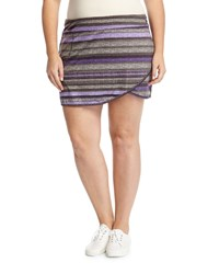 Soybu Plus Joy Overlap Striped Skort Denim Stripe