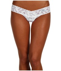 Hanky Panky Mrs. Low Rise Bridal Thong White Blue Women's Underwear