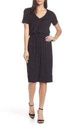 Charles Henry Bloused Knit Dress Black
