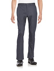 Perry Ellis Dobby Slim Fit Straight Pants Slate