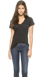 Lna Short Sleeve V Neck Tee Black