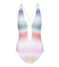 Missoni Mare Crochet Knit Swimsuit Multicoloured