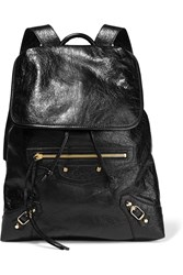 Balenciaga Classic Traveller Textured Leather Backpack Black