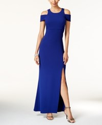 Msk Off The Shoulder A Line Gown Lapis Blue