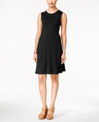 Styleandco. Style And Co. Sleeveless Shift Dress Only At Macy's Deep Black
