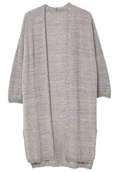 Mango Metal Cardigan Medium Heather Grey Metallic Grey