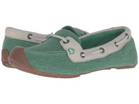Keen Catalina Canvas Boat Shoe Greenbriar Whisper White Women's Slip On Shoes