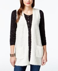 G.H. Bass And Co. Open Front Boucle Vest