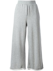 Alexander Wang T By Cropped Track Pants Grey