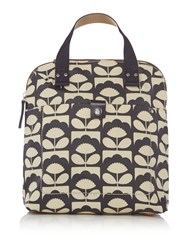 Orla Kiely Tiny Spring Bloom Small Backpack Tote Charcoal
