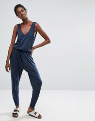 Y.A.S Yas Lilly Jumpsuit Total Eclipse Grey