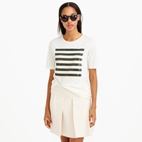 J.Crew Sequin Stripe Tee