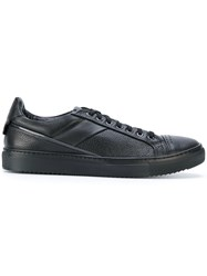 Fabi Low Top Sneakers Calf Leather Leather Rubber Black