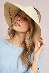 Anthropologie Take It Easy Visor Neutral Motif