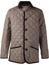 Mackintosh Houndstooth Coat Brown