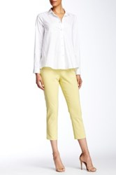 Insight Solid Techno Pull On Cropped Pant Yellow