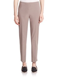 Peserico Stretch Cotton Ankle Pants Taupe