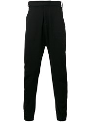 Odeur 'Beyond' Drop Crotch Sweatpants Unisex Cotton S Black
