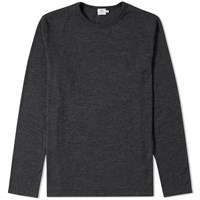 Sunspel Merino Crew Knit Jumper Grey