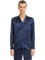 Trussardi Printed Silk Satin Shirt