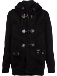 Bark Knitted Duffle Cardigan Black