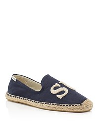 Soludos X Cuisse De Grenouille Surf Smoking Slipper Espadrilles Navy Natural