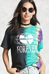 Forever 21 Wu Tang Clan Band Tee Teal White