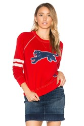 Mother The Super Square Second Base Sweatshirt Red