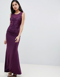 Ax Paris Halterneck Maxi Dress Purple