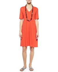 Eileen Fisher Half Sleeve Hemp Twist Dress